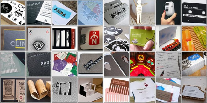 collage of business cards