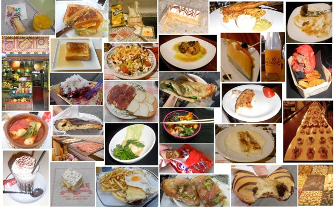 thumbnails of food imagery