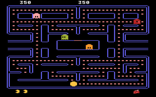screen shot of Atari Pacman game