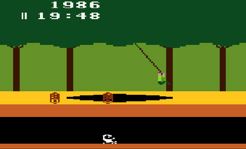 screen shot of Atari game Pitfall