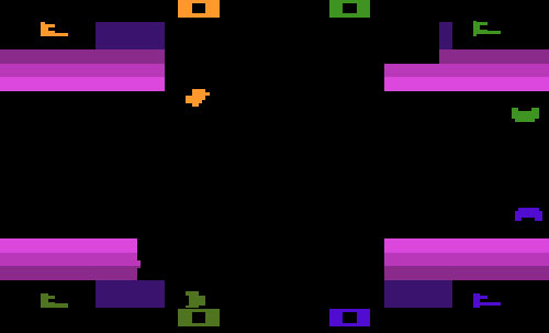 screen shot of Atari Warlords game