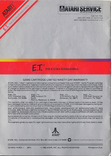 ET-Atari manual back cover