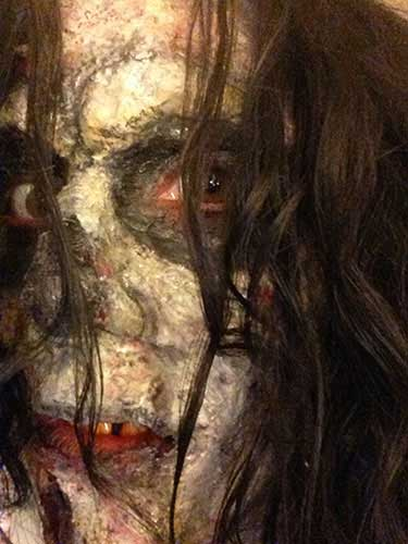 close up of zombie face