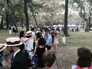 Jazz Age Lawn Party 2014 Waiting on Line to enter the main event area