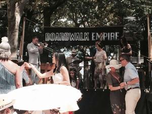Jazz Age Lawn Party 2014: HBO's Boardwalk Empire sponsored stage with performers
