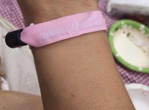 Jazz Age Lawn Party 2014 pink entry bracelet